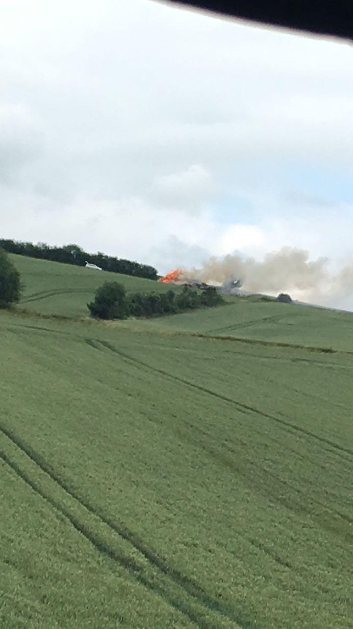 Feuer auf dem Moosberg