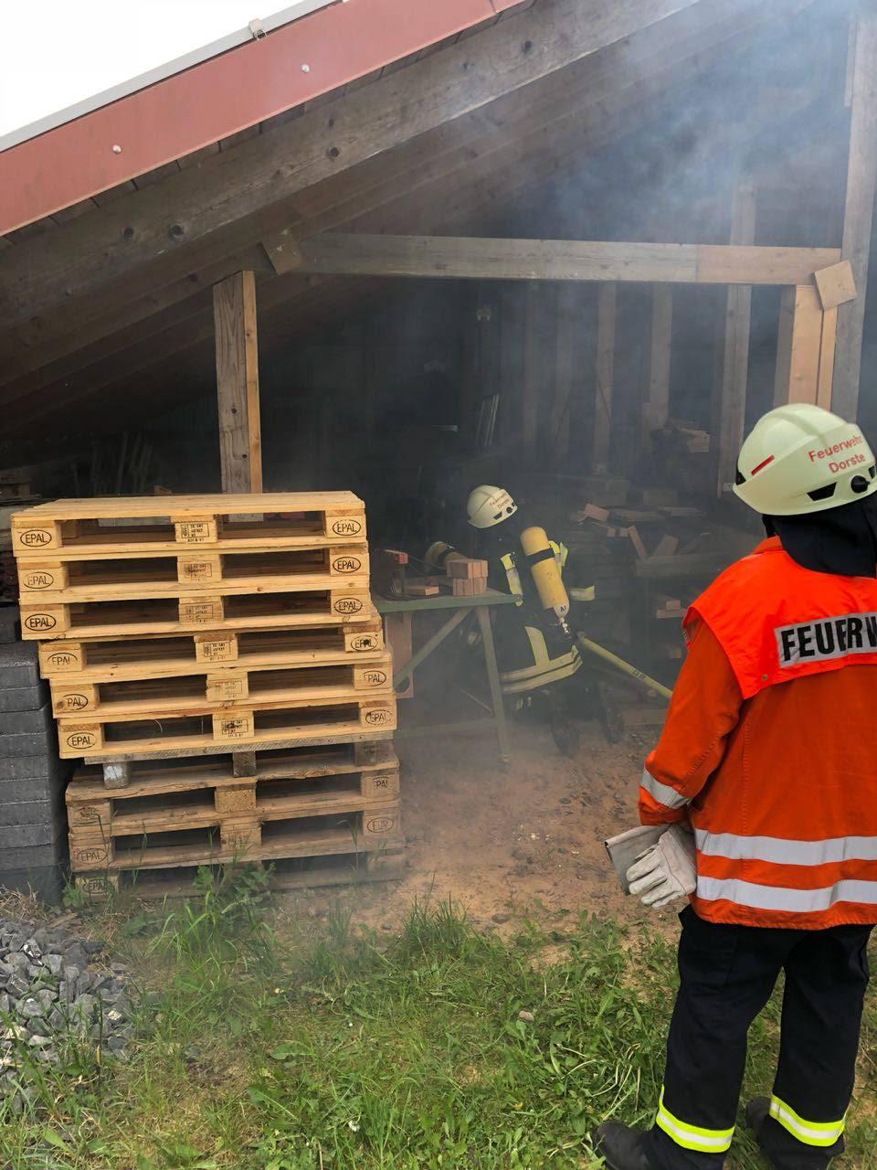 Zimmerbrand, Rauchentwicklung Wirtschaftsgebäude